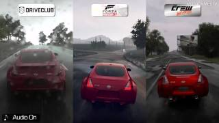 DriveClub vs Forza Horizon 2 vs The Crew Wild Run [Beta] - Rain Weather Comparison