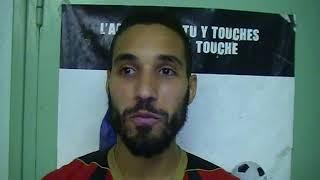 Hilal BOUGUERRA (Le Puy 43) après sa victoire au FC Villefranche 2017 Video
