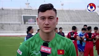 Đặng Văn Lâm trả lời họp báo trước buổi tập đầu tiên của ĐTVN tại Thái Lan | VFF Channel