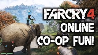 Far Cry 4 Coop Multiplayer Gameplay Walkthrough: ONLINE FREE ROAM! FUNNY MOMENTS! Funtage!