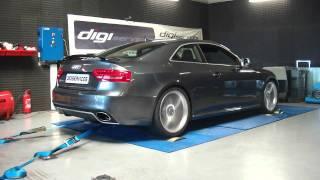 digiservices audi RS5 V8 450cv banc de puissance Reprogrammation Moteur DYNO