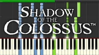 Shadow of the Colossus - The Opened Way (Piano Tutorial, Synthesia)