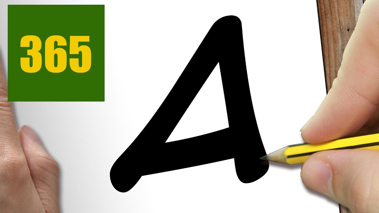 Comment dessiner en utilisant la lettre a kawaii tape - Dessin lettre ...