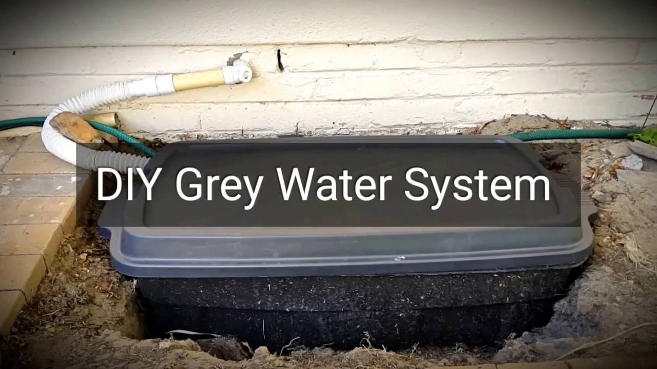 1 Diy Grey Water System With Submersible Pump Overview Youtube