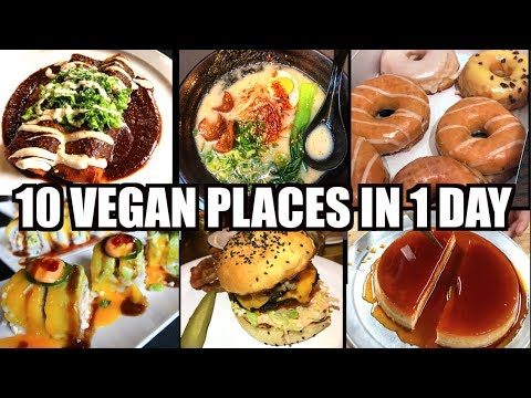 10 VEGAN Places in 1 Day - Featuring MOBY -  Los Angeles