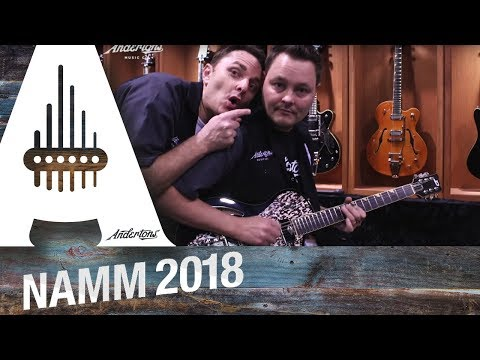 Duesenberg booth with Lee and Pete - NAMM 2018