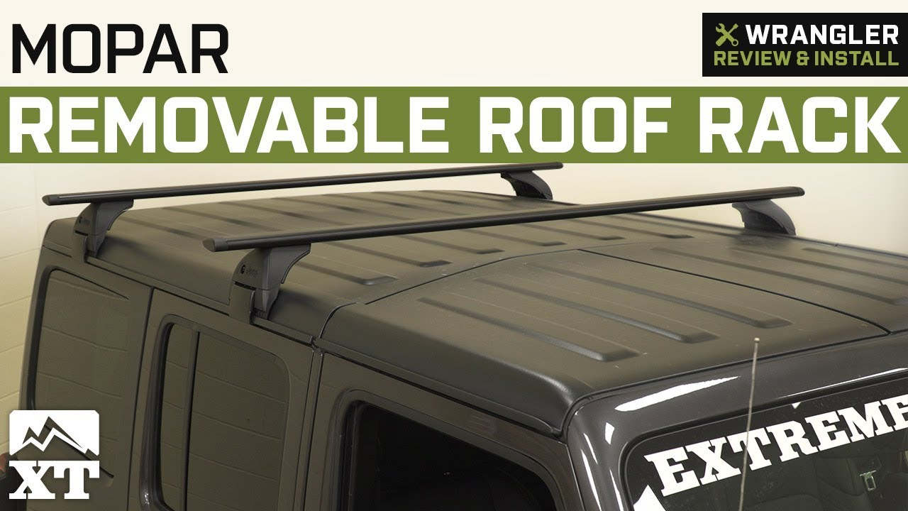 jeep wrangler jl mopar removable roof rack 2018 review install