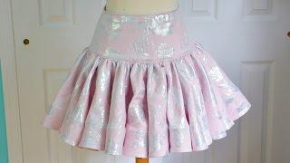 Ruffly Skirt Tutorial - With Horsehair Braid