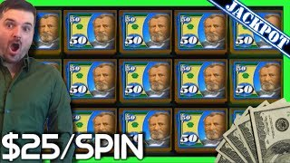 BIGGEST HAND PAY JACKPOT on Youtube on $25/SPIN on HIGH LIMIT MONEY RAIN Slot Machine W/ SDGuy1234