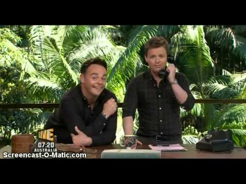 Dec' spoof phone call with Ashley Roberts - I'm A Celebrity...Get Me Out Of Here UK 2012