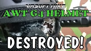 AWT ARMOR WARRIOR TACTICAL G4 HELMET DESTROYED! Ooh-Rah!