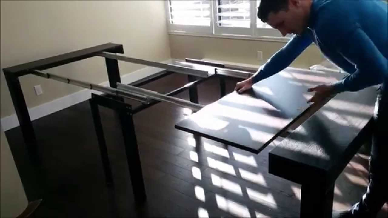 Tiny Titan Massive 14 Seat Dining Table Hides As Tiny Console | Expand  Furniture   YouTube
