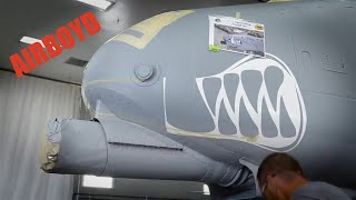 "A-10 ""Warthog"" Nose Paint Timelapse"