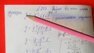 203 Алгебра 8 класс, Найдите все точки графика функции