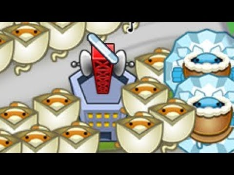 Ninja + Ice + Village Strategy VS Snipers and Super Monkeys Late Game! (Bloons TD Battles)