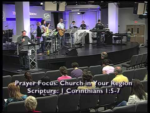 Mike Bickle leading intercession at the International House of Prayer in Kansas City