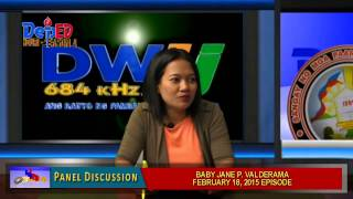 DepED Hour Panel Discussion 2 Feb. 18, 2015 Episode