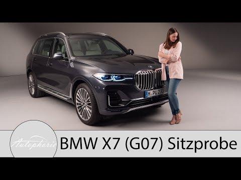 Weltpremiere BMW X7 (G07): exklusive Sitzprobe im 7-Sitzer Luxus-SUV aus Bayern - Autophorie