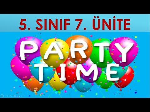 5. SINIF İNGİLİZCE 7. ÜNİTE PARTY TIME KELİMELER / AYLAR