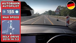 Tesla Top Speed On Navigate on Autopilot & Lane Change (Germany Autobahn)