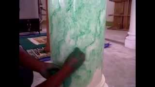 cara mengecat motif marmer sederhana (wash paint)