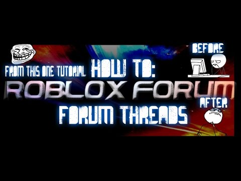 roblox tutorial: how to post a forum thread