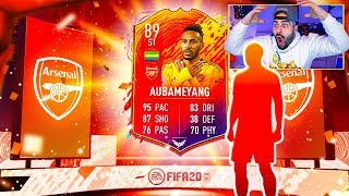 OMG!! I GOT HEADLINER AUBAMEYANG HE IS A CHEAT CODE!! FIFA 20