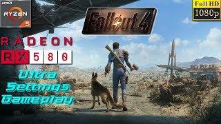 Fallout 4 PC Ultra Settings Gameplay Test - Ryzen 5 1400 + RX 580 4GB