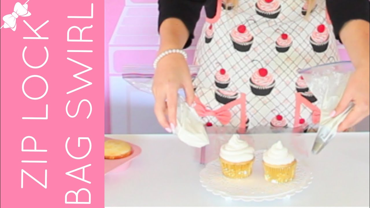 Cake Decorating Bag How To : How To Use a Ziploc Bag To Decorate Cupcakes // Lindsay ...