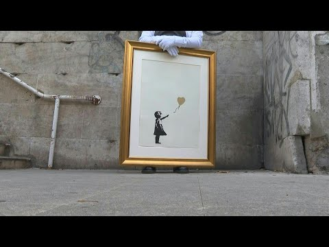 Banksy's Artwork Shown In Its Original Location Before Auction | AFP