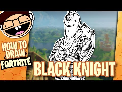 How to Draw the BLACK KNIGHT (Fortnite: Battle Royale) | Narrated Easy Step-by-Step Tutorial