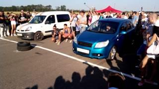 Renault Kangoo vs Chevrolet Aveo / 16.08.2015 Drag Racing / 12 Region Кировоград