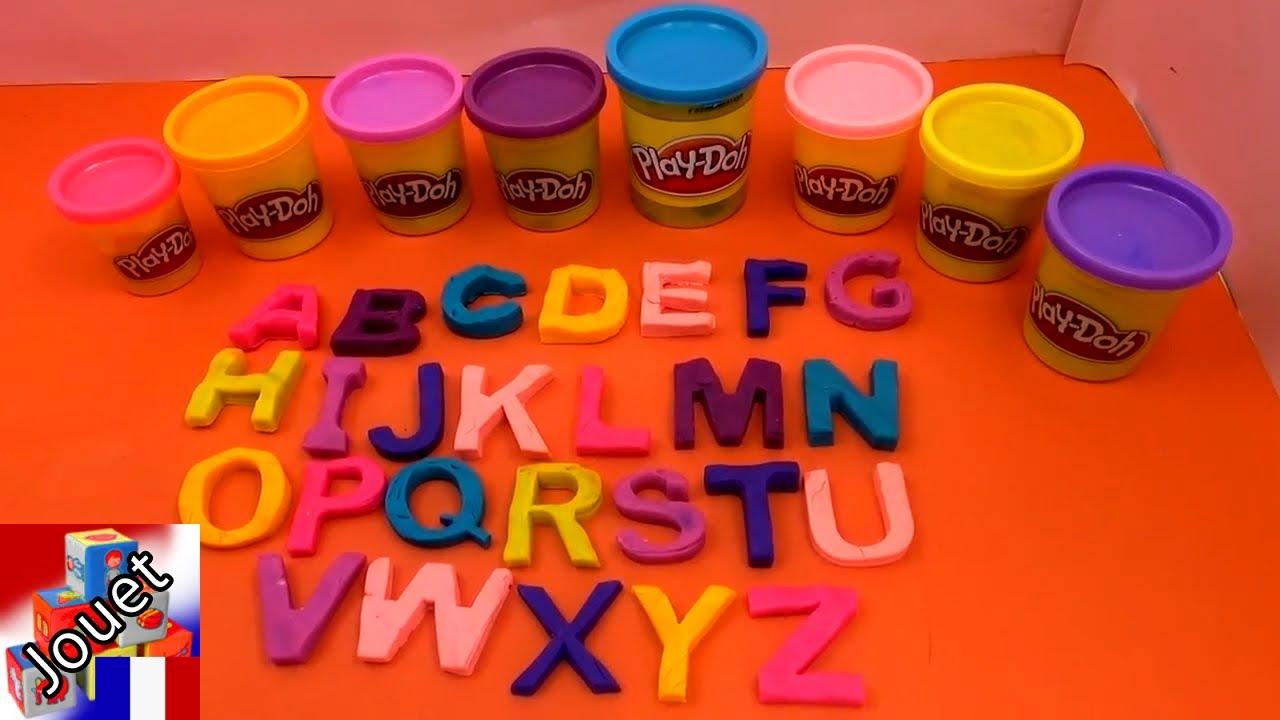 Apprendre l'alphabet avec de la pâte à modeler / Pâte à modeler Play Doh démo - YouTube