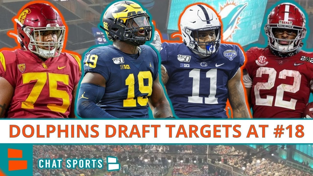 Miami Dolphins 2021 NFL Draft: Here Are The Top 10 Players Miami Could Select In Round 1, Pick #18