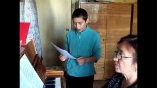Первые уроки вокала Иосифа 2 октября 2011 МЛ