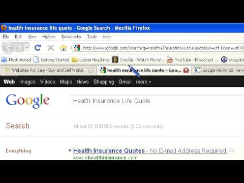 Search Engine Results – Health Insurance Life Quote Website