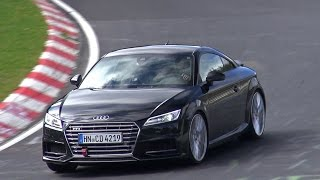 [SPYVIDEO] 2016 Audi TT-RS Mule Being Tested on the Nürburgring!