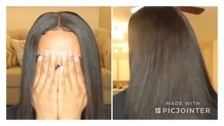 HOW TO: QUICK WEAVE W/CLOSURE  PROTECTIVE STYLE  FT. ARIEL HAIR