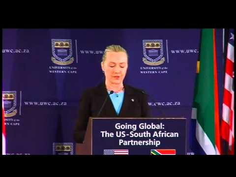 Secretary Clinton Delivers Remarks on Going Global: the U.S.-South Africa Partnership