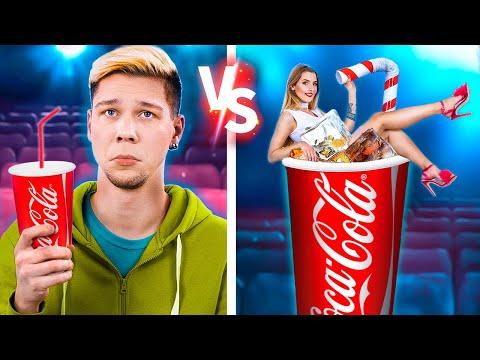 Бедный vs богатый кинотеатр/ Смешные трюки с едой