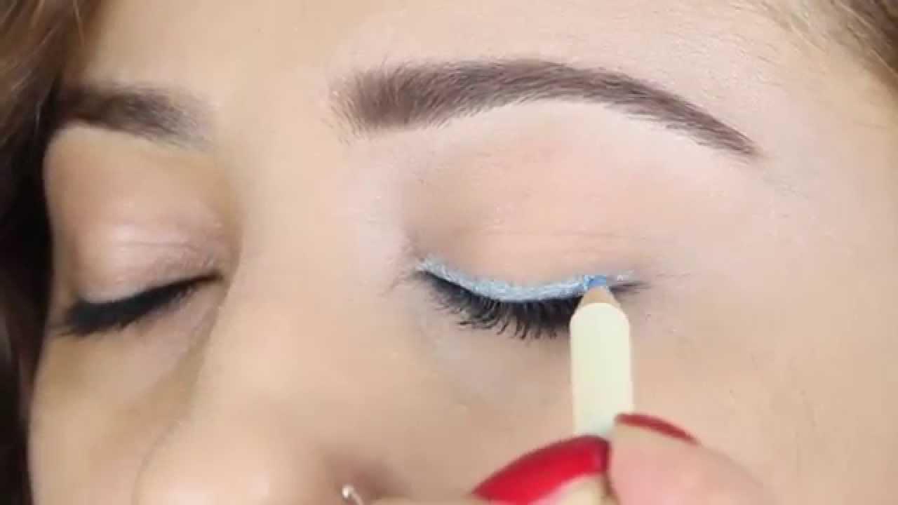Parti için Pırıltılı göz makyajı nasıl yapılır