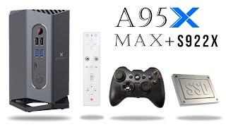The Big Bad Tall A95X Max+ TV Box Amlogic S922X 6X CPU 4GB 64GB