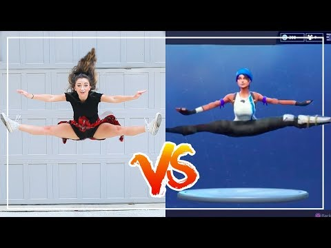 FORTNiTE DANCE CHALLENGE in REAL LiFE Ft The Rybka Twins