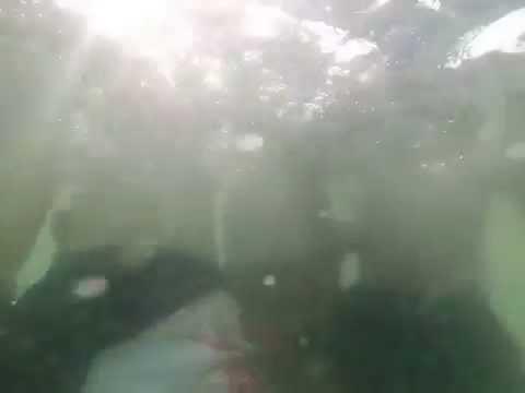 Nhóm hotboy khoe hàng dưới nước