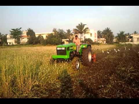 indo farm tractor rotavetor demo in karad