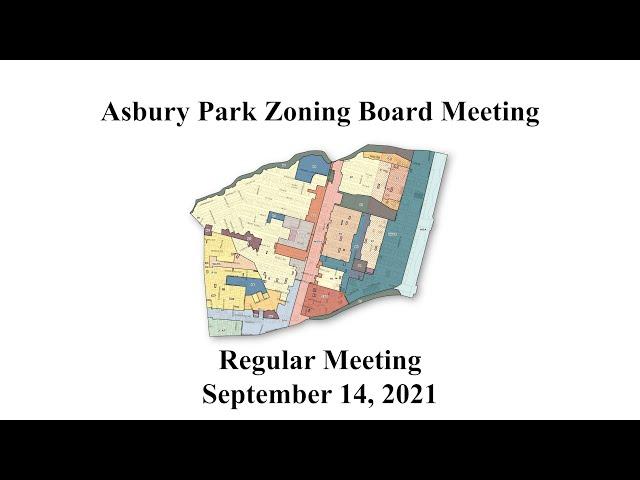 Asbury Park Zoning Board Meeting - September 14, 2021