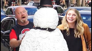Scary Snowman Prank US Tour 2018 - Over 100 Reactions!