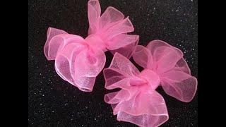 Мини бантики на первые хвостики//Mini bows for the first ponytails
