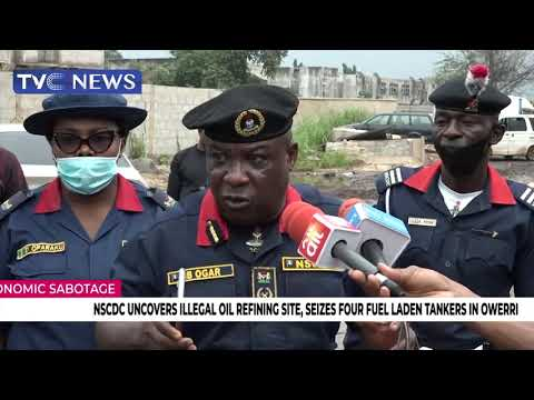 NSCDC Uncovers Illegal Oil Refining Site, Seizes Four Fuel Laden Tankers In Owerri