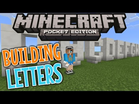 How To Build Letters In Minecraft - Minecraft PE (Pocket Edition)